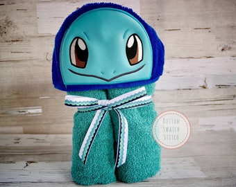 Squirtle Inspired Hooded Towel