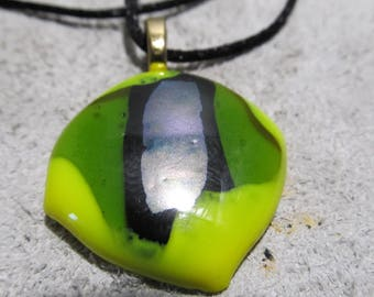 Fused Glass jewelry, Dichroic Glass Pendant, Fused Glass Necklace