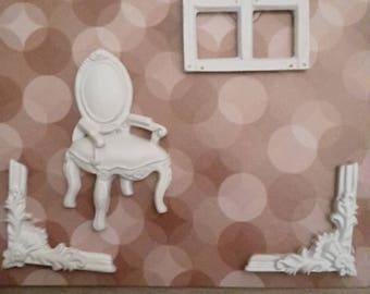 Plaster baroque frame
