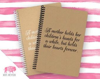 Spiral Notebook | Spiral Journal Planner | Journal | 100% Recycled | A Mother | BB046