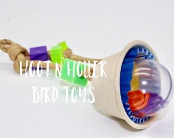 Rattling Parrot Fun Toy ~ Rattle Tattle