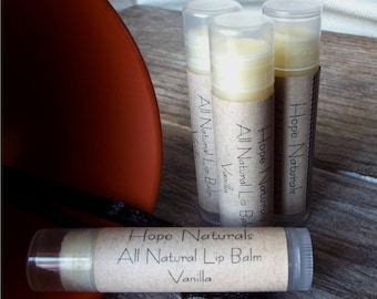 4-Pack All Natural Vanilla Lip Balm