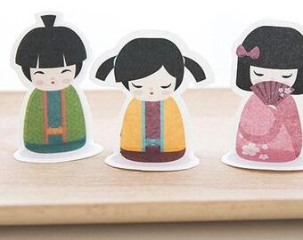 NEW!Kokeshi dolls Kimono doll sticky note - Kawaii Japanese doll sticky note