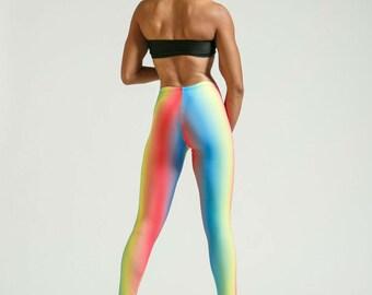 Ombre Rainbow Leggings