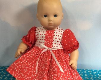 "Key to my heart dress fits 15"" Bitty Baby"