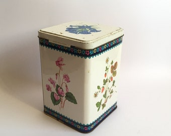 Midcentury vintage toffee tin- Made in Englang