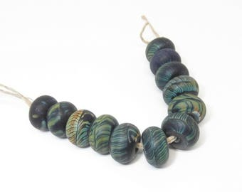 Black Raku Handmade Lampwork Glass Beads - Prima Donna Beads