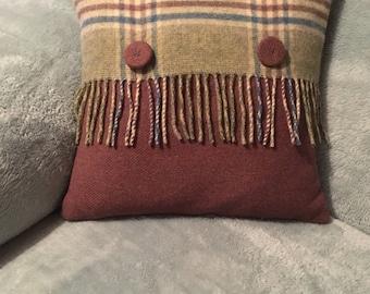 Authentic Scottish wool cushion