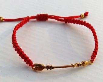 Macrame bracelet, Gold Arrow Cuff Bracelet,  Handmade,  Greek Jewelry,  Bracelet Anniversary Gift,  Greek Jewelry, Made in Greece