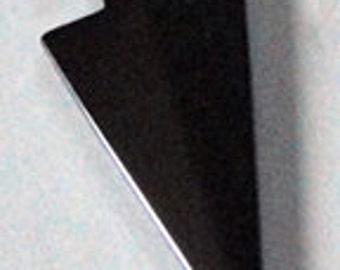 43mm HEMATITE Shiny Metallic Gun Metal Black Arrow ARROWHEAD Pendant Charm Drop Suncatcher