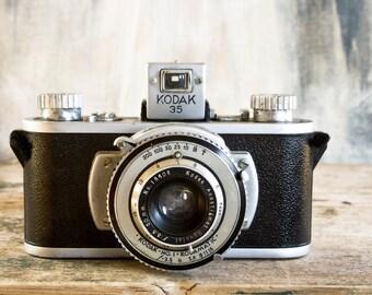 Vintage Kodak 35 Camera, Rare 35mm Kodamatic Anastigmat Lens, Camera Collector Industrial Dude Gift