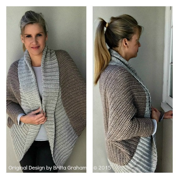 Crochet Shrug Pattern Oversized Sweater Cardigan Crochet Pattern