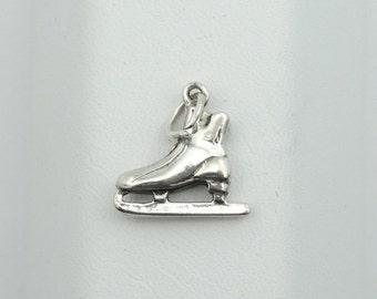 Vintage Solid Sterling Silver Skate Collectable Charm #SKATE-CM1