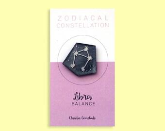 Libra Zodiac constellation brooch-