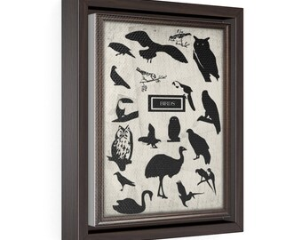 Birds - Vertical Framed Premium Gallery Wrap Canvas Size: 8″ × 10″