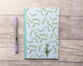 Fairy notepad, woodland notebook, helicopter seeds, fairy notebook, limited edition notebook, fairy stationery, planner accessories,