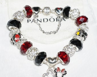 Sterling Silver Mickey Minnie Mouse Disneyland - Authentic Jared Pandora bracelet