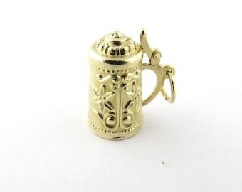Vintage 14 Karat Yellow Gold Beer Stein Charm #1137