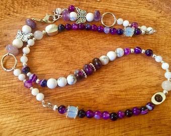Purple Rain Wrap Around Bracelet/ Necklace