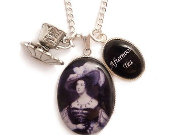 Tea cup necklace afternoon tea victorian .. Anna Russell the creator of Afternoon Tea