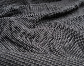 Polyester grey tweed by the yard in 150cm ref 82 in increments of 50cm