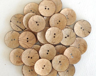 200 Large Size 38 mm Coconut Shell Buttons