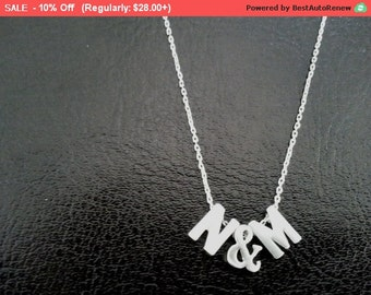 Personalized Necklace, Initial Necklace, Monogram Necklace,Pendent Necklace, Charm, Name Necklace Jewelry, Valentine Gifts