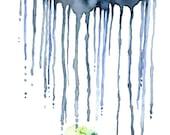 Watercolor Rain Cloud Pai...