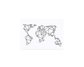 Postcard Geometric Earth