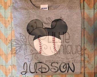 Mickey baseball head shirt