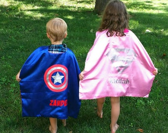 SALE! Ships in 1-2 days! PERSONALIZED Superhero Cape Mask Armbands -35 Styles Spiderman, Ironman, Captain America, Minnie,   Thor more!