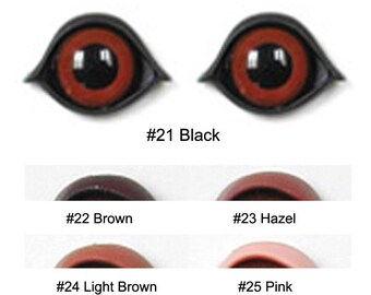 1 Pair 10mm Plastic Eyelids Article PC Size 0A Available in 5 Colours Teddy Bears Dolls Plush Toys