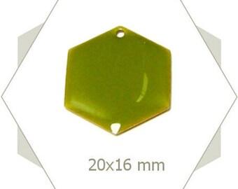 6 sequins hexagons khaki SEH10 pendants