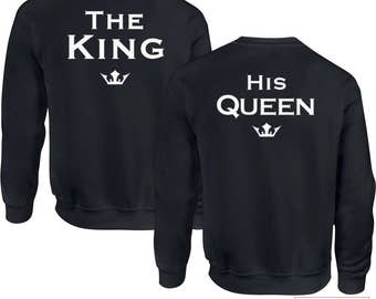Couple Sweatshirts, King and Queen, His and Her Shirts, Groom Shirt, Bride Shirt, Wedding Gift Ideas, 426