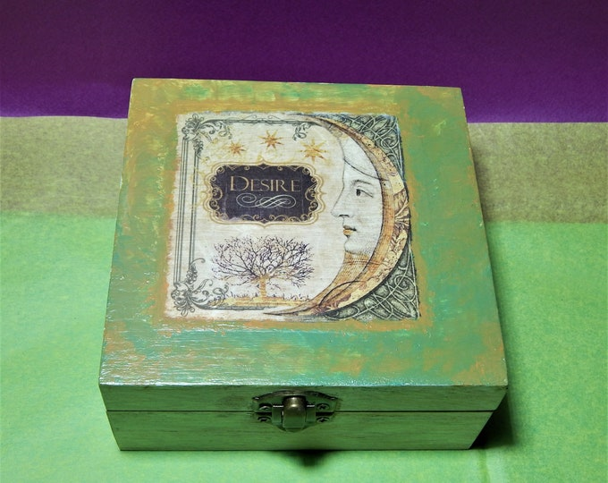 Decoupage magic box,Book of shadows, Spell book,  Witch book, Wizard book, Book of magic,  spell journal,magic book,magicbox,decoupage book