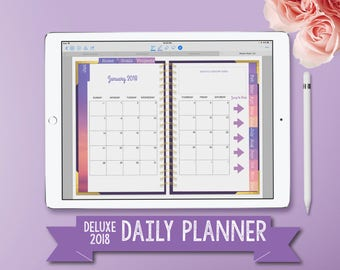 2018 Digital Planner for iPad Pro - Digital Planning - GoodNotes Planner  - Functional  Tabs - Ultraviolet Daily Planner - Project Planner