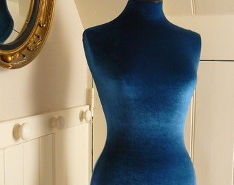 Slip On Luxury Velvet Mannequin Dressform COVER ONLY - Teal