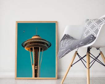 Space Needle Photo/Space Needle Print/Space Needle Photography/Space Needle Art/Seattle Gift/Seattle Photography/Space Needle Picture/PNW