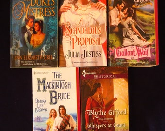 Parcel #22 - Parcel of 5 Historical Regency Romance & Medieval Books - Cree, Justiss, Gracie, Brown, Gifford