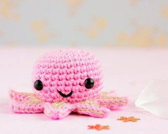 Octopus crochet miniature animals, Kawaii octopus stuffed animal plushie, Kawaii amigurumi octopus, Cute plush octopus, Mini stuffed octopus