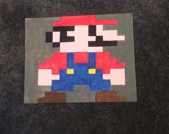 8-bit Mario, modern colors