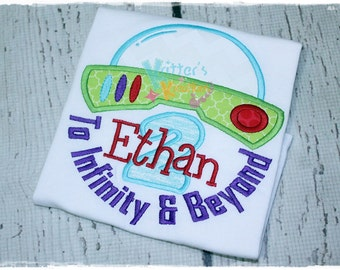 Buzz Lightyear Inspired Birthday - Space Explorer - Toy Story - Embroidered Applique Shirt