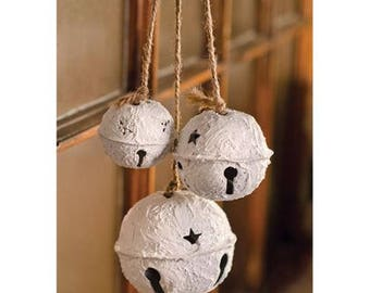 Rustic White Bells Ornament