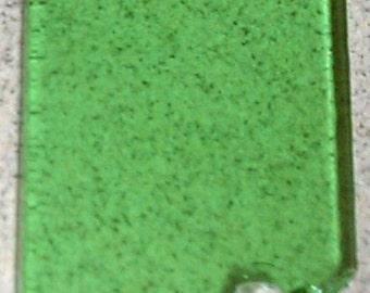 Grass green tint glass casting fusible billet, Fusing glass, Bullseye casting billet, glass billet, Green billet, Casting Glass, Fused Glass