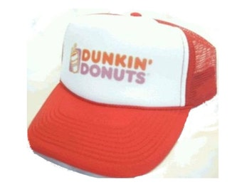 Dunkin' Donuts Trucker Hat Mesh Hat NEW Adjustable one size fits most Orange