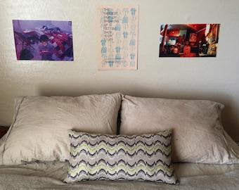 Funky Patterned Rectangular Throw Pillow