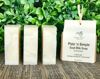 Plain n' Simple Unscented soap Mild soap Goat Milk Soap Sensitive Skin Soap Delicate skin soap Kids soap Natural soap Pure soap kids' soap