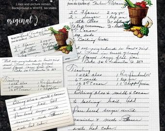 Handwritten Recipe Dish Towel // Set of 3 // Custom Dish Towel