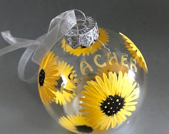 Teacher gift, unusual teacher gift, teacher gift, end of term, teacher present, personalised gift, personalized, sunflowers