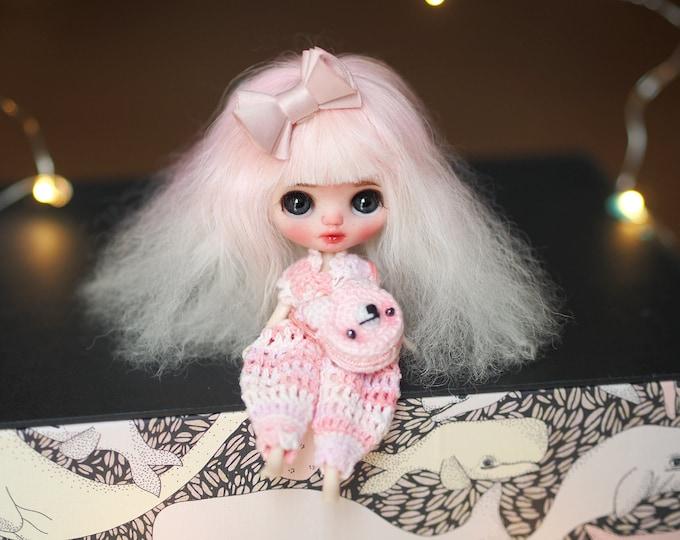 Sarsarblanki Custom Petite Blythe Doll Astilbe – OOAK handmade custom ブライス PBL プチブライス